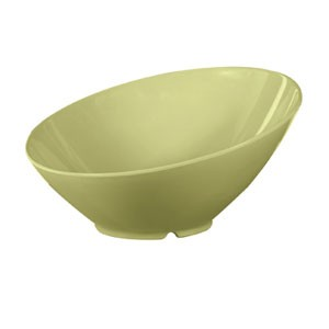 GET Enterprises B-792-AV Diamond Harvest Avocado Cascading Melamine Bowl 24 oz. - 1/2 doz