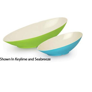 GET Enterprises B-798-ST Keywest Sunset Oval Cascading Melamine Bowl 2-1/2 Qt.- 1/2 doz