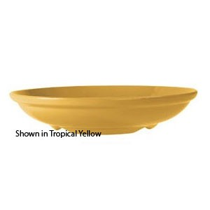 GET Enterprises B-925-TY Diamond Mardi Gras Tropical Yellow Melamine Bowl 1.1 Qt. - 1 doz