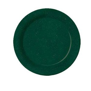 "GET Enterprises BF-060-KG Kentucky Green Melamine Plate 6-1/4"" - 4 doz"