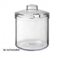 GET Enterprises CD-8-C-2-CL Clear Condiment Jar Cover - 2 doz