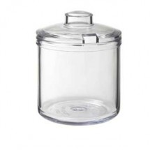 GET Enterprises CD-8-2-CL Clear Condiment Jar with Cover 8 oz. - 2 doz
