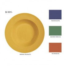 "GET Enterprises CP-10-MIX Diamond Mardi Gras Assorted Colors 3-Compartment Plate 10-1/4"" - 1 doz"
