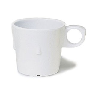GET Enterprises DC-101-W SuperMel White Conic Stacking Cup 7.5 oz. - 4 doz
