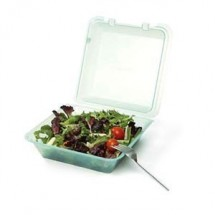 "GET Enterprises EC-02-1 Reusable Eco-Takeouts Container 9"" x 9"" x 3-1/2"" - 1 doz"