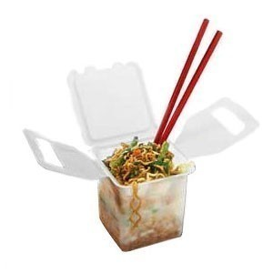 GET Enterprise  EC-03 20 Oz. 1 Compartment Chinese Food Container - 1 doz