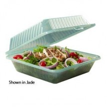 "GET Enterprises EC-10-1 Reusable Eco-Takeouts Container 9"" x 9"" x 3-1/2"" - 1 doz"