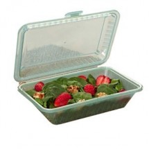 "GET Enterprises EC-11-1 Reusable Eco-Takeouts Half Size Container 9"" x 6-1/2"" x 2-1/2"" - 1 doz"