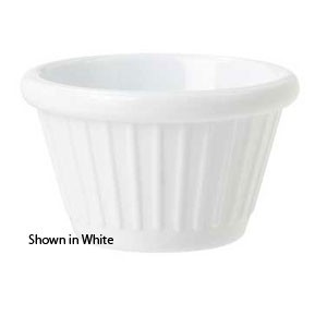 GET Enterprise  F-625-BR 2 Oz. Brown Fluted Ramekin  - 4 doz