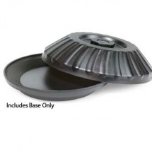 "GET Enterprises HCR-97-BK Black Insulated 9-1/2"" Base for 9"" Plate - 1 doz"