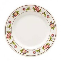 GET Enterprises KT-415-TR Tea Rose Round Plate 12""