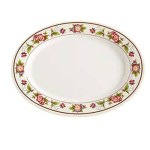 "GET Enterprises M-4050-TR Tea Rose Melamine Oval Platter 9"" x 6-1/2"" - 1 doz"