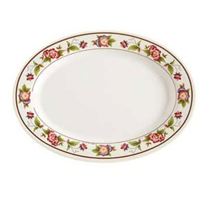 GET Enterprises M-408-TR Tea Rose Oval Platter 8""