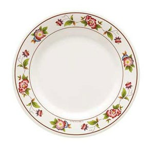 GET Enterprises M-5050-TR Tea Rose Melamine Round Plate 8""