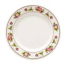 GET Enterprises M-5080-TR Tea Rose Melamine Round Plate 9-1/2""