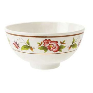 GET Enterprises M-768-TR Tea Rose Melamine Bowl 9 oz.