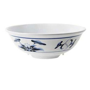 GET Enterprises M-810-B Water Lily Melamine Bowl 24 oz. - 1 doz