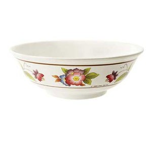 GET Enterprises M-812-TR Tea Rose Melamine Bowl 1.6 Qt. - 1 doz