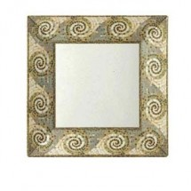 "GET Enterprises ML-102-MO Mosaic Square Plate 6"" - 1 doz"