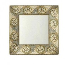 "GET Enterprises ML-103-MO Mosaic Square Plate 8"" - 1 doz"