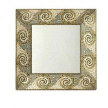 "GET Enterprises ML-104-MO Mosaic Square Plate 10"" - 1 doz"