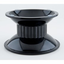 "GET Enterprises ML-106-BK Black Tall Melamine Pedestal 4"" - 3 pcs"