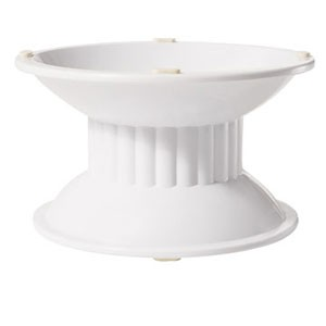 "Get Enterprises ML-106-W White Tall Melamine Pedestal 4"" - 3 pcs"