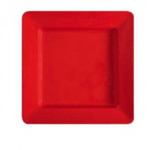 "GET Enterprises ML-12-RSP Red Sensation Square Deep Plate 12"" x 12"" - 1 doz"