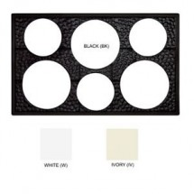 GET Enterprise  ML-161 Full Size Melamine Adaptor Plate with 6 Round Cut Outs