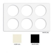 GET Enterprise  ML-171 Full Size Melamine Adapter Plate with Round Six Cut-Outs