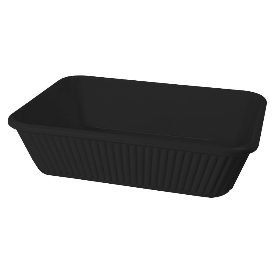 GET Enterprises ML-177-BK Milano Black Casserole Dish 3 Qt. for ML-169 Adapter Plate - 3 pcs