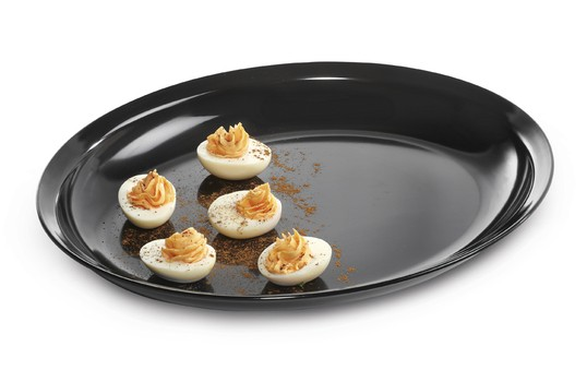 "GET Enterprises ML-181-BK Milano Black Oval Platter 15"" x 12""- 3 pcs"