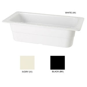 "GET Enterprises ML-21 Melamine Half Size Food Pan 4"" - 3 pcs"