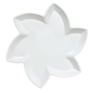 GET Enterprises ML-218-W San Michele White Flower Display Tray 14-1/2""