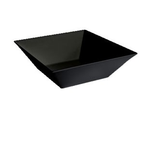 GET Enterprises ML-248-BK Siciliano Black Square Bowl 5.7 Qt. - 3 pcs