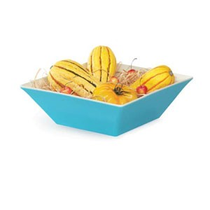 GET Enterprises ML-248-SE Keywest Seabreeze Square Melamine Bowl 5.7 Qt.- 3 pcs
