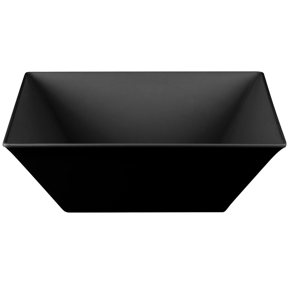GET Enterprises ML-250-BK Siciliano Black Square Bowl 20.4 Qt. - 3 pcs