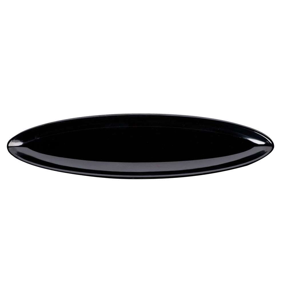 "GET Enterprises ML-251-BK Siciliano Black Oval Side Dish 12"" x 3"" - 1 doz"