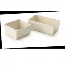GET Enterprise  ML-260-IV Ivory 2.2 qt., 6.4'' x 6.8'' Crock - 1/2 doz
