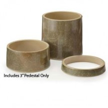 "GET Enterprises ML-277-SLATE Stone-Mel Pedestal 3"" - 3 pcs"