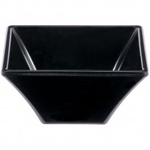GET Enterprises ML-278-BK Siciliano Black Square Bowl 8 oz.- 1 doz