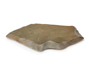 "GET Enterprises ML-284-SLATE Stone-Mel Melamine Display 25-1/2"" x 20-1/2"""