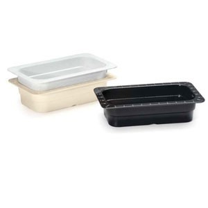 "GET Enterprises ML-29 Melamine Fourth Size Food Pan 2-1/2"" - 1/2 doz"
