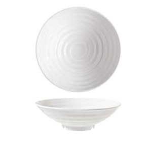 GET Enterprises ML-75-W Milano White Melamine Bowl 4 Qt. - 1/2 doz