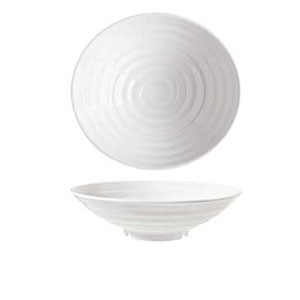 GET Enterprises ML-79-W Milano White Melamine Bowl 1-1/2 Qt. - 1 doz