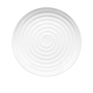"GET Enterprises ML-83-W Milano White Round Plate 12-1/2"" - 1 doz"