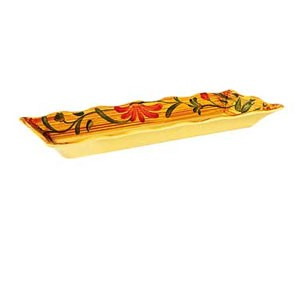 "GET Enterprises ML-87-VN Venetian Rectangular Melamine Tray 17-1/4"" x 6-3/4"" - 1/2 doz"