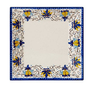 "GET Enterprises ML-91-SL Santa Lucia Square Plate 14"" - 1/2 doz"