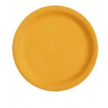 "GET Enterprises NP-10-TY Diamond Mardi Gras Tropical Yellow Narrow Rim Plate 10-1/2"" - 1 doz"