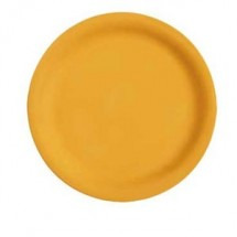 "GET Enterprises NP-7-TY Diamond Mardi Gras Tropical Yellow Narrow Rim Plate 7-1/4""- 4 doz"